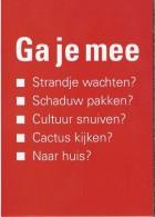 NL.- Boomerang Kaart - Ga Je Mee. Martinair Your Choise - Advertising