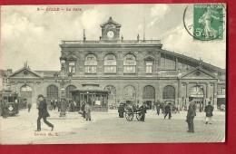XBH-12 Lille, La Gare. TRES ANIME. Tramway. Cachet Frontal Pour Angoulème - Lille
