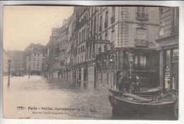 PARIS 75 - INONDATIONS JANVIER 1910 - PARIS VENISE : Quai Des Grands Augustins - CPA - Seine - Alluvioni Del 1910