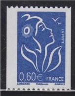 = Type Marianne De Lamouche 0.60€ Bleu De Roulette ITVF Neuf Gommé N° 3973 Et Numéro 478 Noir à Gauche Au Verso - Rollo De Sellos