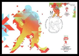 Maxicard Belarus 2014 Mih. 1000 Ice Hockey World Championship. Logo - Wit-Rusland