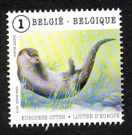 Belg. 2015 - COB N° 4504 ** - Les Animaux En Mouvement  (Loutre - Otter) Du Bloc 225 - Belgium