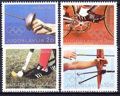 YOUGOSLAVIE 1980 YT N° 1707 à 1710 ** - Nuevos