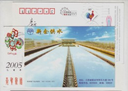 Purified Water Pool,China 2005 Xinyu Water Supply Plant Advertising Pre-stamped Card - Water