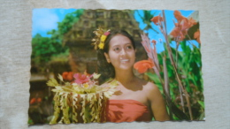 Indonesia  -  BALI  - Dancer - Indonesian Woman   -stamp  Airplane   D130446 - Indonesia