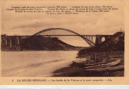 La Roche-Bernard.. Les Bords De La Vilaine.. Le Pont Suspendu.. Bateaux.. Barques - La Roche-Bernard