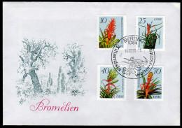 DDR 1988 - Bromelien - Ananasgewächse - FDC - Sukkulenten