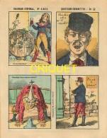 Imagerie D'Epinal, Questions Devinettes Avec Belle Publicité Soldats Et Jouets Quiralu Au Verso, N ° 1301 - Vieux Papiers
