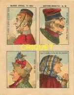 Imagerie D'Epinal, Questions Devinettes Avec Belle Publicité Soldats Et Jouets Quiralu Au Verso, N ° 1303 - Vieux Papiers