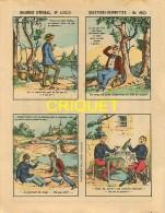 Imagerie D'Epinal, Questions Devinettes Avec Belle Publicité Soldats Et Jouets Quiralu Au Verso, N ° 1313 - Vieux Papiers
