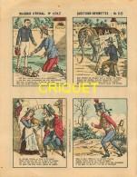 Imagerie D'Epinal, Questions Devinettes Avec Belle Publicité Soldats Et Jouets Quiralu Au Verso, N ° 1317 - Vieux Papiers