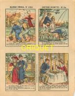 Imagerie D'Epinal, Questions Devinettes Avec Belle Publicité Soldats Et Jouets Quiralu Au Verso, N ° 1321 - Vieux Papiers