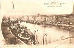 Mv332 Poland Szczecin Stettin Harbour Hafen Boats - Poland