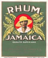 "01595 ""RHUM JAMAICA - DISTILLERIE  COLOMBO S.A.-CARDANO""  ETICHETTA ORIGINALE, ANNI ´30 - ORIGINAL LABEL , YEARS´ 30. - Rhum"