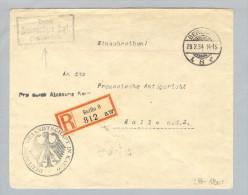 MOTIV Botschaft Deutsche Gesandtsch.Kairo Brief>Halle A.d.S. - Allemagne