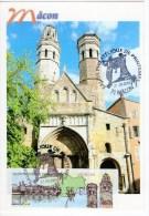 MÂCON Eglise Du Vieux St Vincent -Carte Maximum Avec Lisa  Editions Combier - Cartoline Maximum