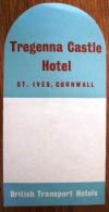 HOTEL MOTOR MOTEL TRAGENNA CASTLE CORNWALL IVES UK ENGLAND GREAT BRITAIN STICKER DECAL LUGGAGE LABEL ETIQUETTE AUFKLEBER