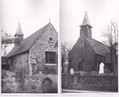 EAST WICKHAM ANCIENT CHURCH. 2 CARDS - London Suburbs