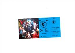 "FRANKIE GOES TO HOLLYWOOD  Z�nith PARIS 1985 - Ticket ""invitation"" complet talon non d�tach�"