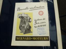 BERNARD MOTEURS - Tracteurs