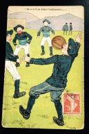 CPA Chasseur Alpin Jeu Au Foot Football Carte écrite En 1913 Au Camp De Chalon KF éditeur CHASSEURS ALPINS - Calcio