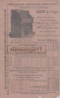 27 168 LES ANDELYS EURE Buvard Manufacture D Orgues DUMONT Succ LELIEVRE ( Tres Interessant Car TARIF CATALOGUE Au Verso - Buvards, Protège-cahiers Illustrés