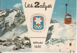 Les 2 Alpes Grenoble : J O D´hiver 1968 2 Vues - Autres Communes