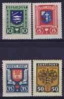 Estland:  Mi Nr 109 - 112  MH/*  1936 - Estonie