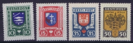 Estland:  Mi Nr 109 - 112  MH/*  1936 - Estland
