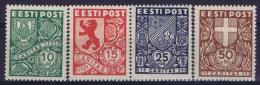 Estland:  Mi Nr 142 - 145  MH/*  1939 - Estonie