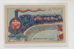 ITALY LECCO TRAIN KRAMPUS Davil   Nice Postcard - Lecco