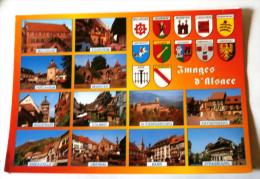IMAGES D ALSACE MULTIVUES  - MULHOUSE TURCKHIEM RIQUEWIHR RIBEAUVILLE EGUISHEIM MUNSTER - Alsace
