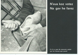 Métier Artisan Le SABOTIER CPM Furnez Breiz Sagesse De La Bretagne (sabot) - Editions :d'Art JOS P 318  *PRIX FIXE - Artisanat