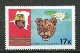 (cl 15 - P52)  Zaïre  ** N° 931 (ref. Michel Au Dos)  - Léopard Et Nénuphar  - - Zaïre