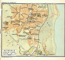 ACIREALE  MINI PIANTINA CARTOGRAFIA T.C.I. 1953 - Carte Geographique