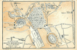 SIRACUSA GRUPPO MUNUMENTALE DELLA NEAPOLI MINI PIANTINA CARTOGRAFIA T.C.I. 1953 - Carte Geographique