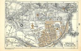 SIRACUSA ZONA ARCHEOLOGICA MINI PIANTINA CARTOGRAFIA T.C.I. 1953 - Carte Geographique