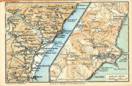 DINTORNI DI TAORMINA MINI PIANTINA CARTOGRAFIA T.C.I. 1953 - Carte Geographique