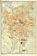 CALTANISSETTA MINI PIANTINA CARTOGRAFIA T.C.I. 1953 - Carte Geographique