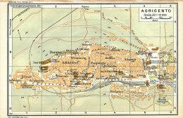 AGRIGENTO MINI PIANTINA CARTOGRAFIA T.C.I. 1953 - Carte Geographique