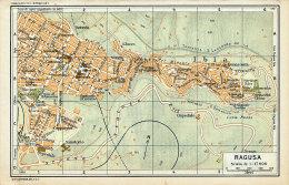 RAGUSA MINI PIANTINA CARTOGRAFIA T.C.I. 1953 - Carte Geographique