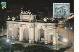 Spanien/España, Ersttagsbrief-Ersttagsansichtskarte/FDC-FDCard, Madrid/Puerta De Alcalá - 1961, Siehe Scan + *) - FDC