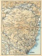 CATANIA & L'ETNA MINI PIANTINA CARTOGRAFIA T.C.I. 1953 - Carte Geographique