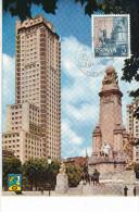 Spanien/España, Ersttagsbrief-Ersttagsansichtskarte/FDC-FDCard, Madrid/Plaza De España - 1961, Siehe Scan + *) - FDC