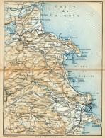 DA LENTINI A SIRACUSA MINI PIANTINA CARTOGRAFIA T.C.I. 1953 - Carte Geographique