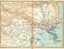SIRACUSA & ORTIGIA MINI PIANTINA CARTOGRAFIA T.C.I. 1953 - Carte Geographique