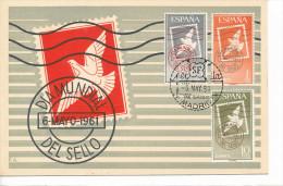 Spanien/España, Ersttagsbrief-Ersttagsansichtskarte/FDC-FDCard, Dia Mundial Del Sello - 1961, Siehe Scan + *) - FDC