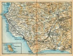 DA CASTELVETRANO A MARSALA E L'ISOLA DI MARETTIMO  MINI PIANTINA CARTOGRAFIA T.C.I. 1953 - Carte Geographique