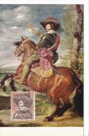 Spanien/España, Ersttagsbrief-Ersttagsansichtskarte/FDC-FDCard, El Conde Duque De  Olivares/Velazques - 1961, Siehe Scan - FDC