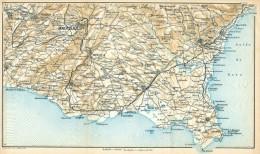 DA NOTO A VITTORIA IL RAGUSANO MINI PIANTINA CARTOGRAFIA T.C.I. 1953 - Carte Geographique